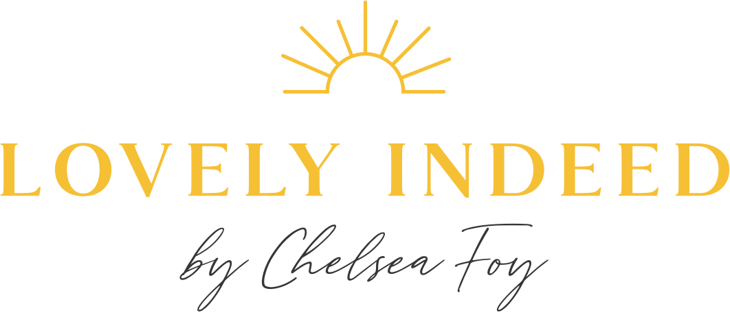Lovely Indeed by Chelsea Foy sunshine logo